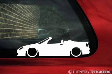 2x LOW MG TF Roadster 160 , Lowered car outline stickers